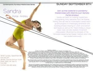 Contemporary Sundays Masterclass Series